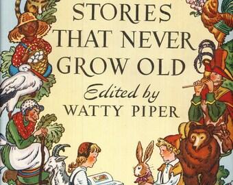 Vintage Childrens Book Watty Piper Stories that Never Grow Old George Hauman Doris Hauman 1969 Hardcover Crabbycats Crabby Cas