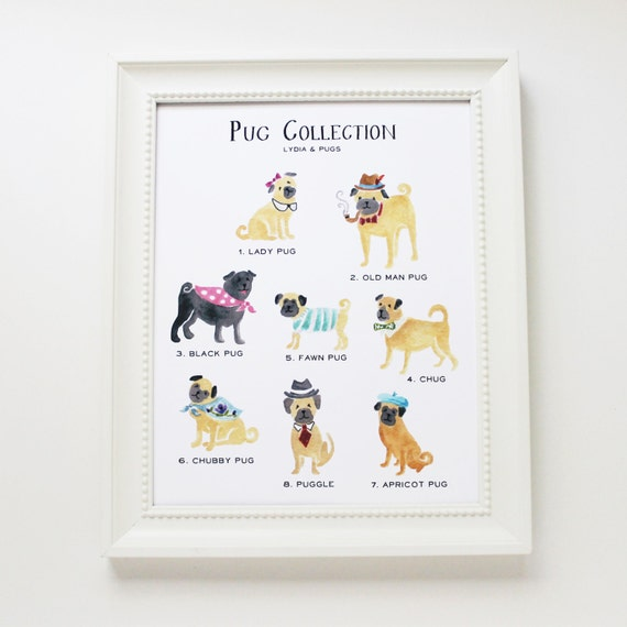 Darling pug collection art