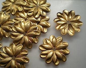 12 brass mirror rosettes, No. 10