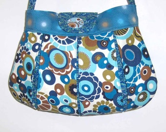 Medium Size Purse in Blue/Turquoise - Shoulder Strap