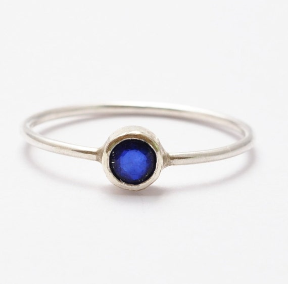 Sapphire Rings: Simple Rings Natural Blue by BlueRidgeNotions