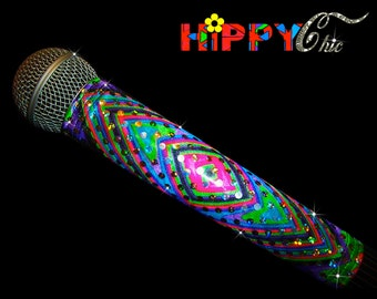 MICROPHONE COVER Skin (Hippy Chic) for CORDLESS Microphones