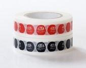 Japanese Washi Masking Tape - Daruma Doll - Set 2