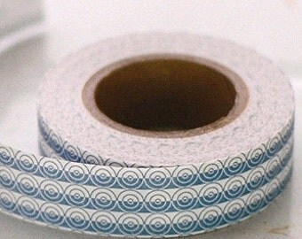 Classiky Craft Paper Tape - Blue Circles Mosaic