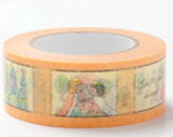 Colte Washi Masking Tape - Snow White in Orange - Fairy Tale