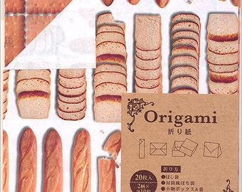 Japanese Origami Paper - Bread & Biscuits - 15cm (6 inches)