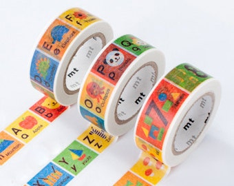 mt Washi Masking Tape - Alphabet or Numbers - Kids