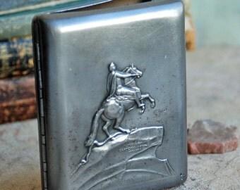 SALE... vintage metal cigarette case, home decor, accessories, coolvintage, collectibles, ornate cigarette case, metal box, Jun 10