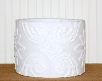 Drum Lamp Shade Lampshades White Chenille