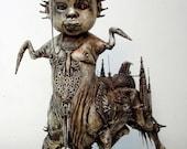 One of a Kind Fantasy Surrealistic Gothic Centaurus Baby Dark Art Sulpture.