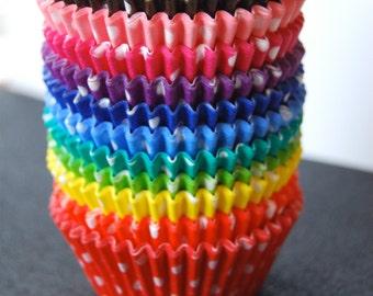 Assorted Polka Dot Cupcake Liners (60)