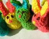 Bunny, Chick, Crochet Jellybean Poopers, Set of Two, Bunny Rabbit, Baby Chick