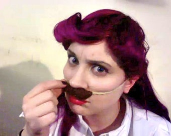 Crochet Mustache, Brown
