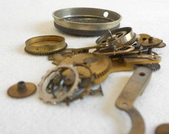 Vintage Steampunk Watch parts Gears