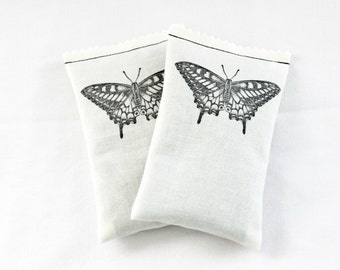 Butterfly No. 5 Lavender Sachets, Butterfly Wedding Bridesmaid Gift, Minimalist Home Decor