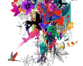 Tropical Girl // A2 Giclée print // FASHION ILLUSTRATION by Holly Sharpe