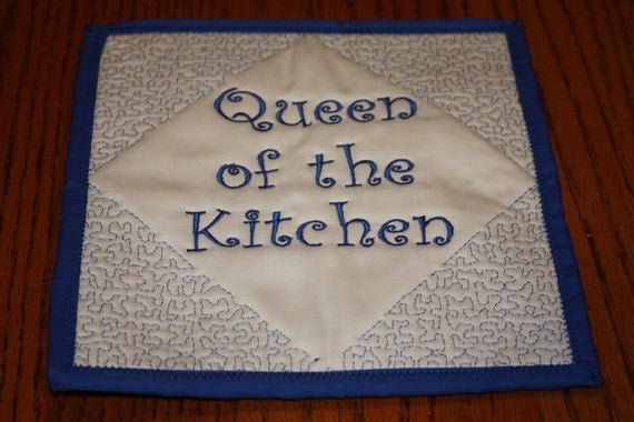 Queen or the Kitchen Quilted Pot Holder