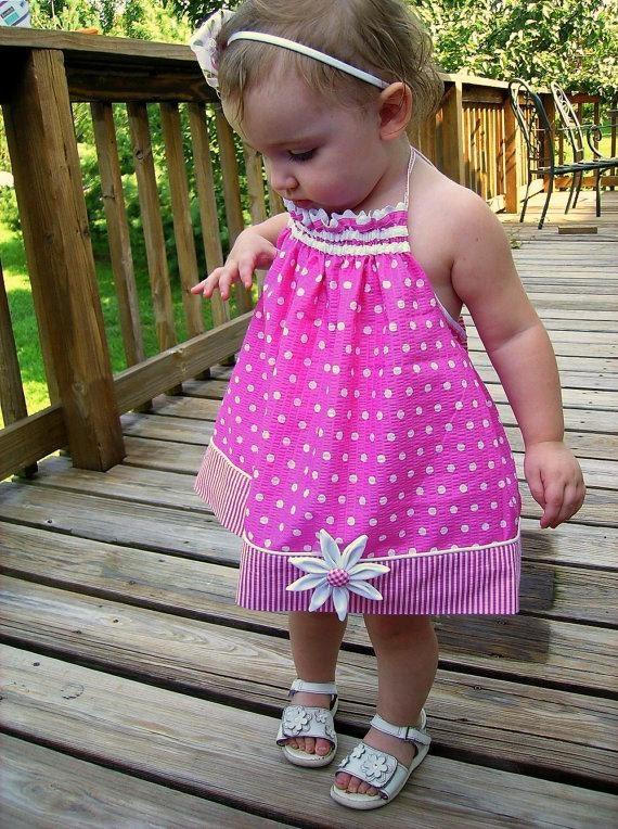Girls Pillowcase Dress or Halter Top PDF Sewing Pattern