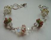 Spring Flowers Silver Bracelet