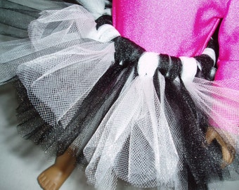 Black and White Tutu 18 inch Doll Clothes fits American girl dolls Ballet Dance