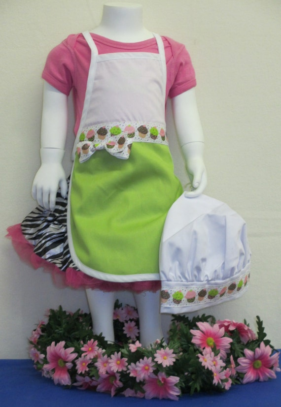 apron and chef hat set personalized child 39 s. Black Bedroom Furniture Sets. Home Design Ideas