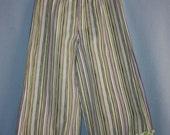 Lavendar and apple Green  Long Ruffle Pants