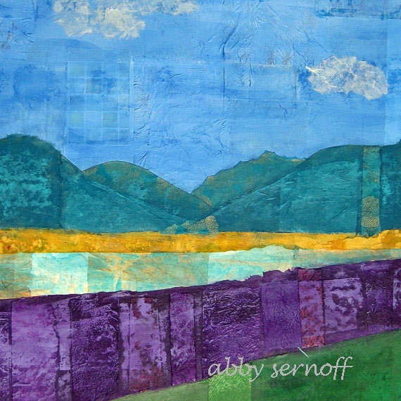 Large Landscape Wall Art Original Collage Art