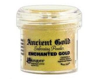 Enchanted Gold Embossing Powder,  Embossing Powder by Ranger, 1 oz Jar