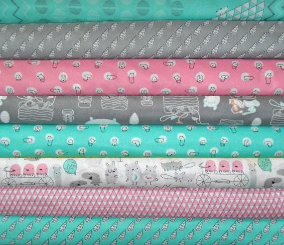 BUNDLE SALE - Monsterz Organic Bundle - Organic Designer Cotton - Cloud9 Fabrics - 8 Yards - Last One
