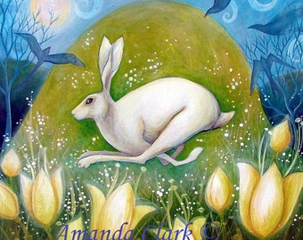 Art print titled 'Morning Dew'' from an original painting by Amanda Clark