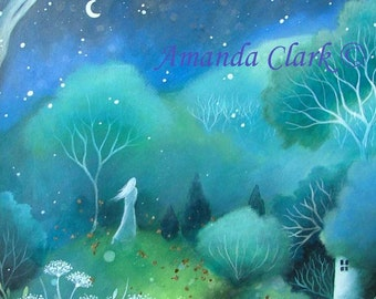 A fairytale art print . 'Moon'. by Amanda Clark.