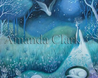 Limited edition giclee of Shea by Amanda Clark.