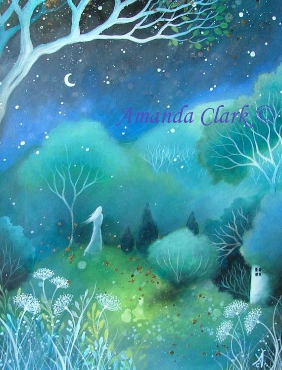 A fairytale art print . 'Moon'. by Amanda Clark.
