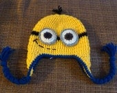 Crochet Minion Hat, Crochet Despicable Me Hat, Child, Teen, Adult - Made To Order - Great For Photos or Everyday Fun
