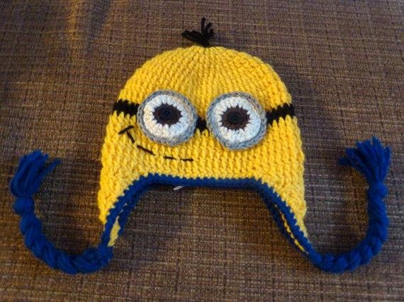 Crochet Minion Hat Crochet Despicable Me Hat Child Teen