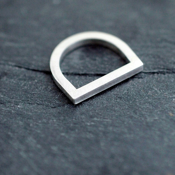 Thick Silvery Adam smile ring