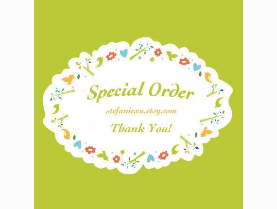 SPecial order for     leebeez