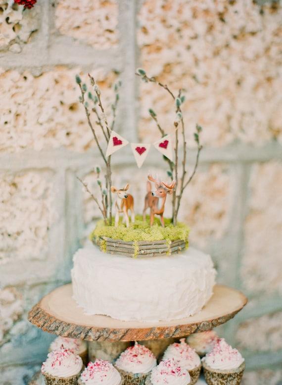 6 Inch Deer Wedding Cake Topper