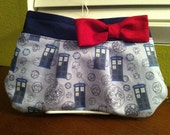 Dr. Who clutch with Maroon Bow