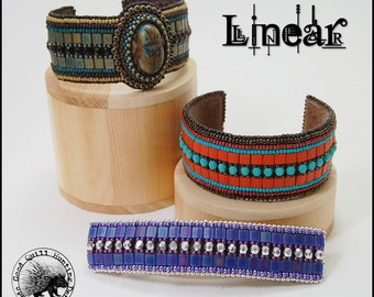 Linear: Bead Embroidery Barrette & Cuff Pattern