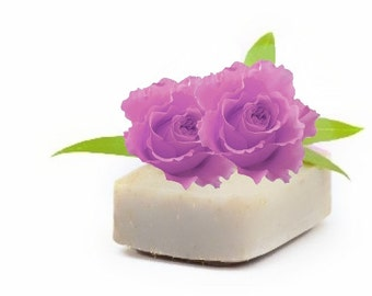Rose Essential Oil Soaps - Organic Soaps - Vegan Soaps - Aromatherapy Soaps - All Natural Soaps - Bath And Beauty