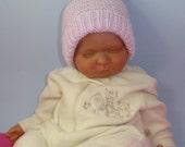 knitting pattern only-  Baby Garter Stitch Topknot Pixie Hat pdf download knitting pattern