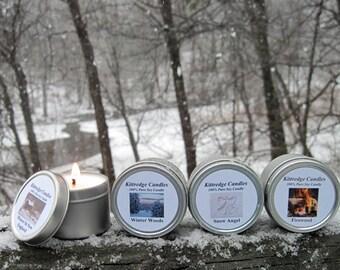 WINTER  SAMPLER (four 2-oz soy candles)
