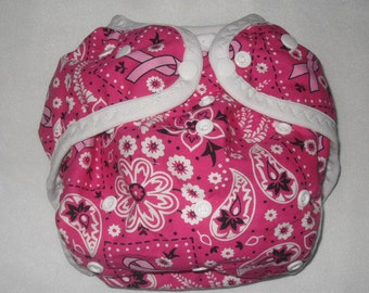 Pink bandana print One size PUL Diaper Cover