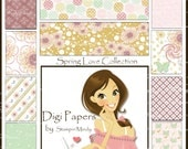 Spring Love Digi Paper Collection