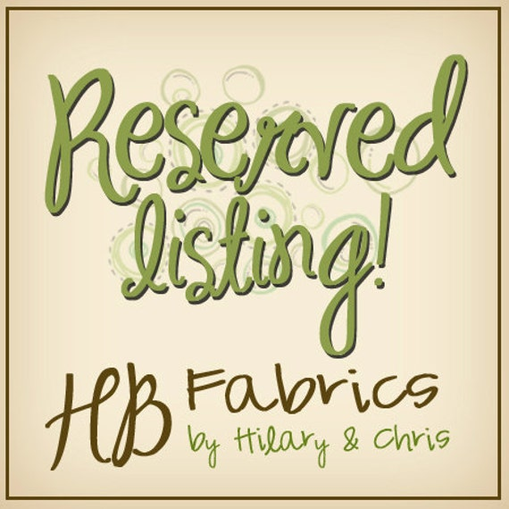 Reserved listing for sassycovers...