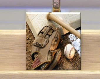 Baseball Scrabble Tile Necklace With Chain