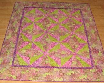 Handmade Batik Lap Quilt