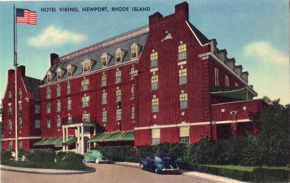 vintage rhode island postcard hotel viking newport unused. Black Bedroom Furniture Sets. Home Design Ideas