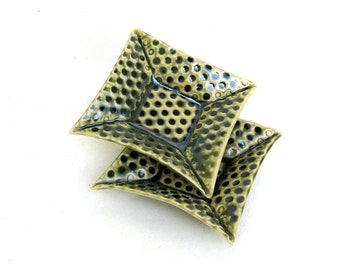 petite hand built porcelain dot trays